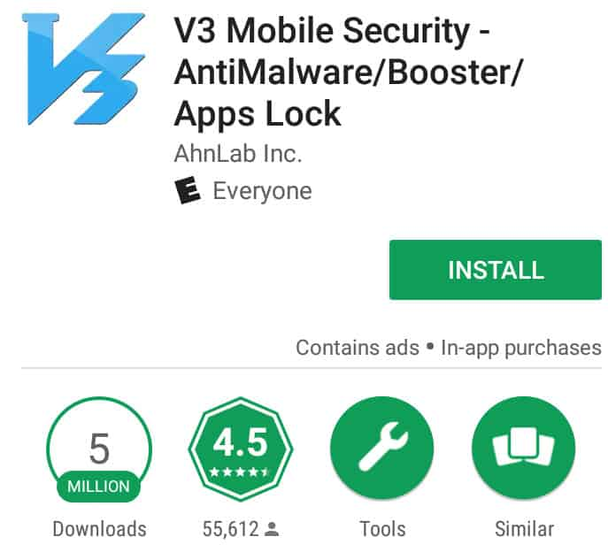 v3 mobile security android antivirus