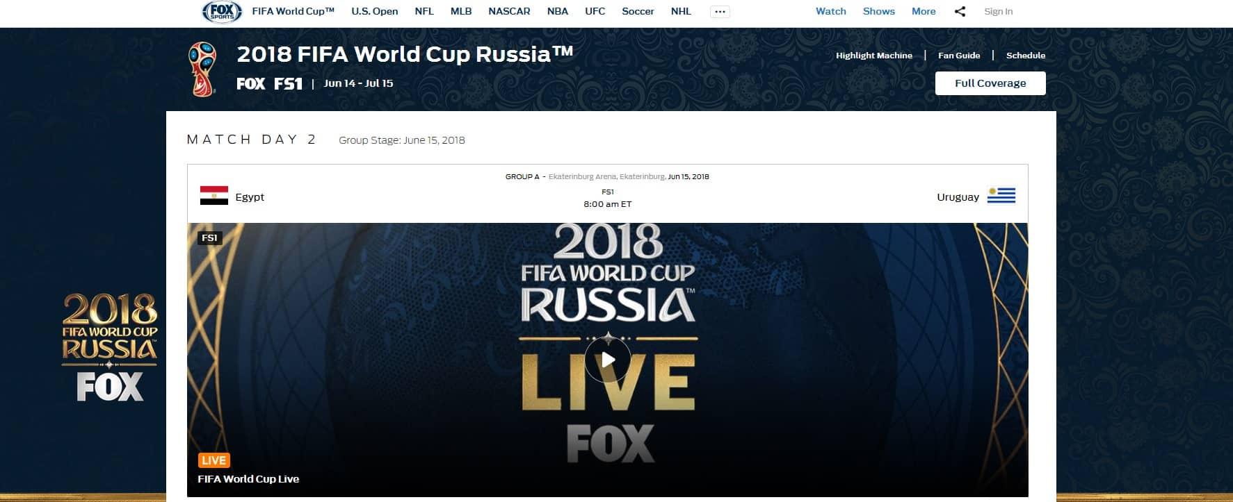 Watch Fox Sports Go outside US