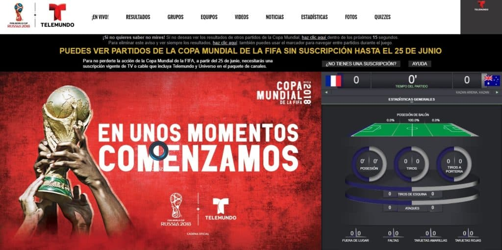 How to watch Telemundo Deportes from outside the US