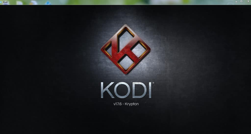 Kodi 17.6 Krypton splash screen