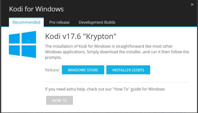 Kodi 17.6 for Windows