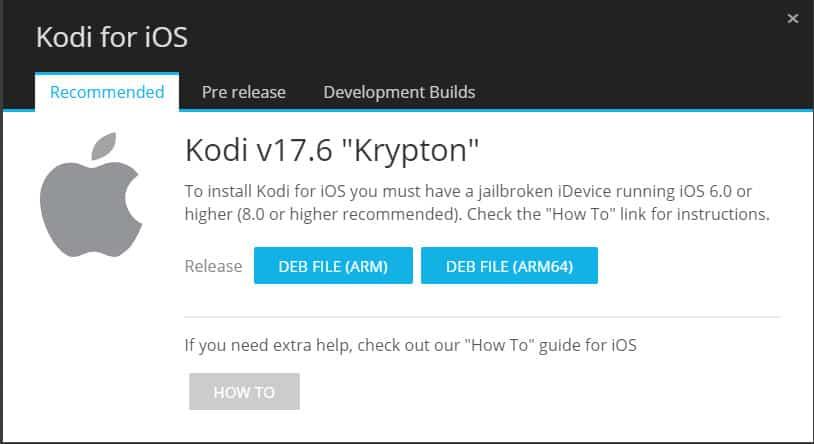 Kodi 17.6 for iOS