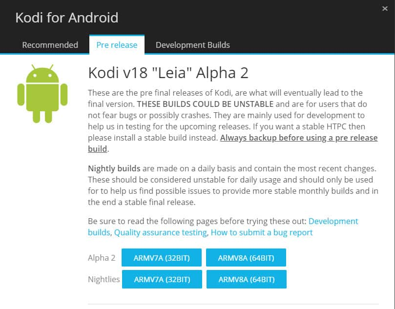 Kodi 18 Leia for Android 3