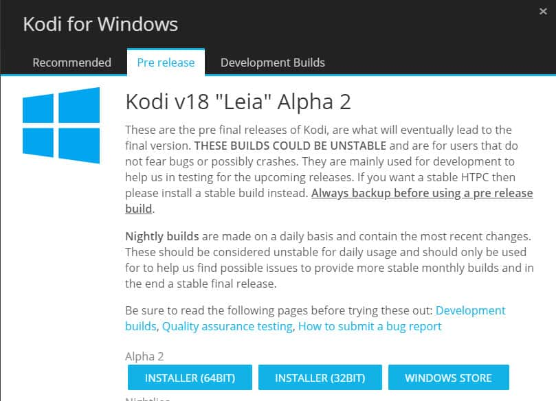 Kodi 18 Leia for Windows 2