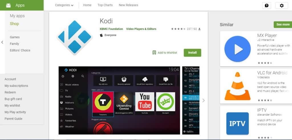 Kodi Google Play