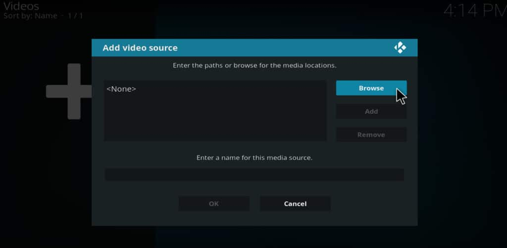 Kodi add videos browse