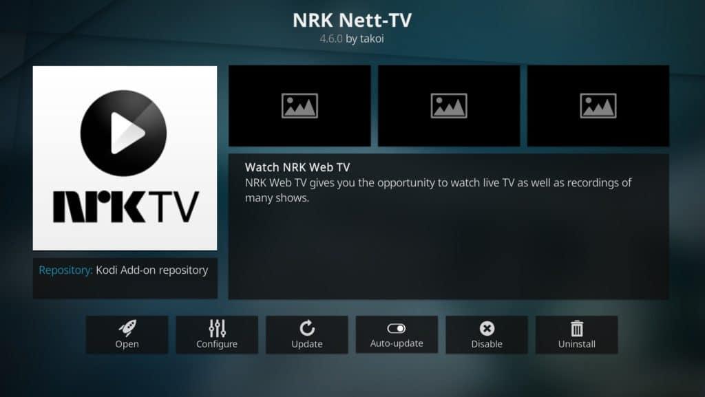 NRK Nett-TV Kodi addon