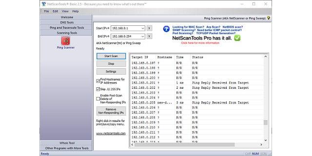 NetScan Tools