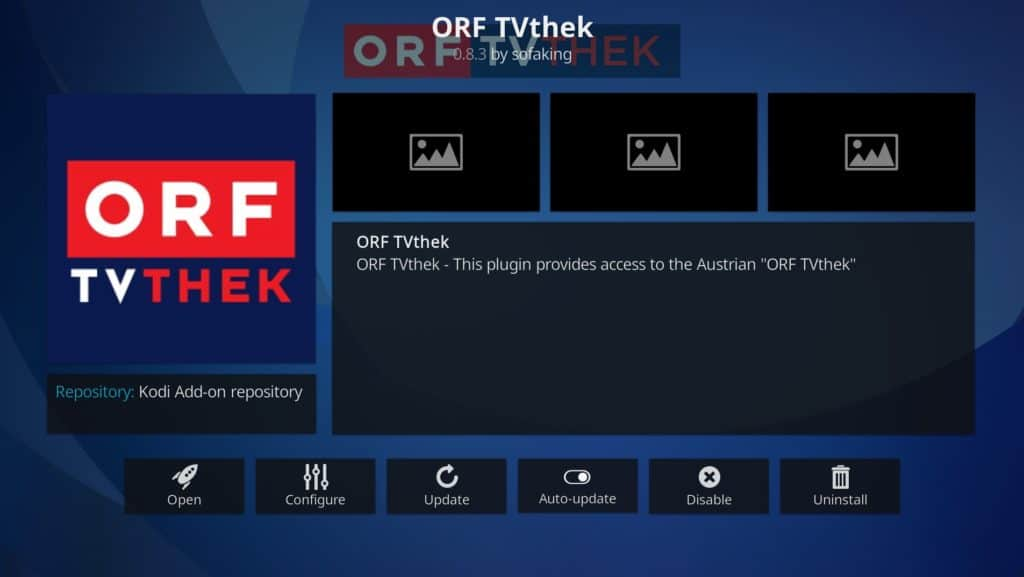 ORF TVthek Kodi addon