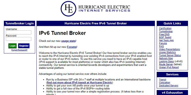 Tunnel Broker