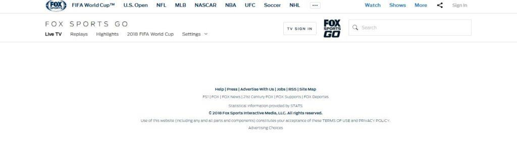 fox sports go without vpn