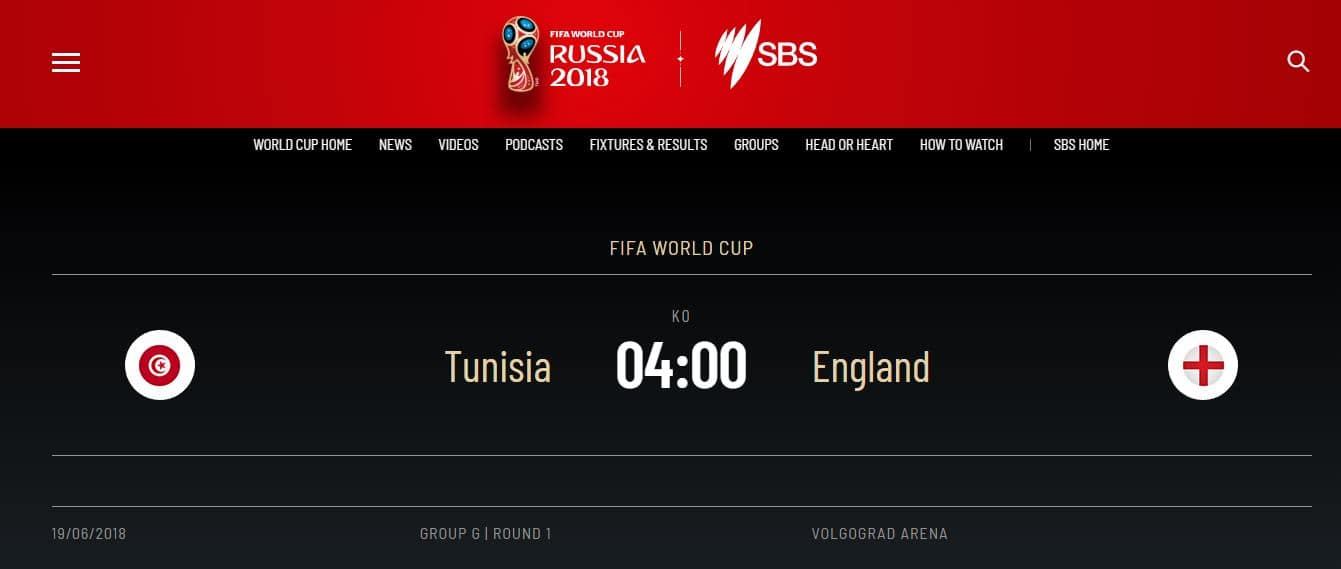 how to watch Tunisia vs England online