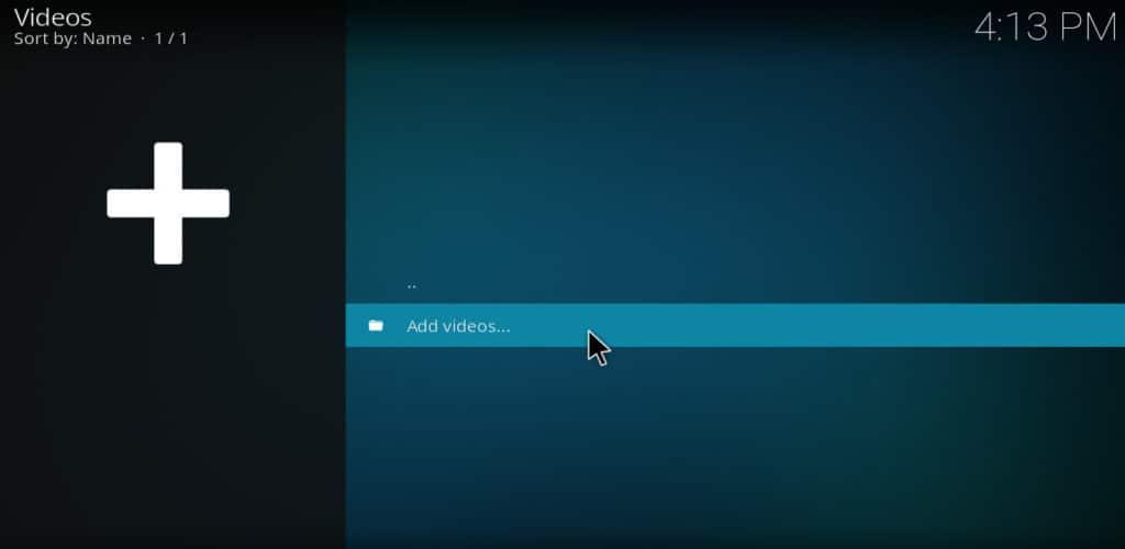 kodi add videos