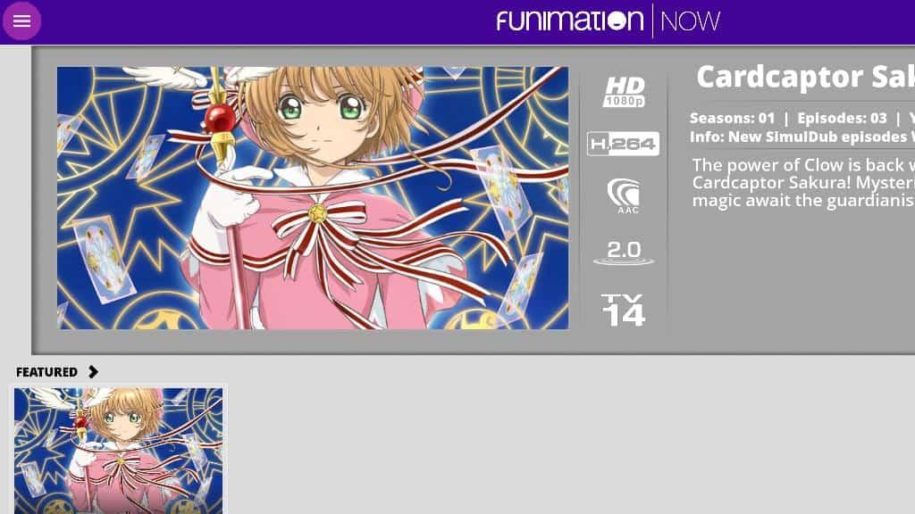 FunimationNOW Kodi addon: Configure