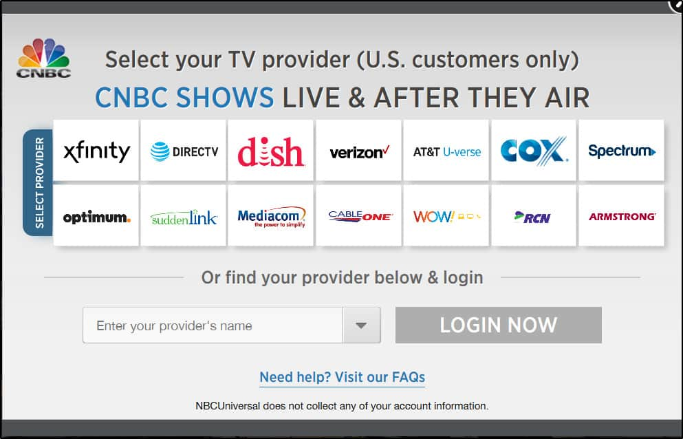 CNBC US Customers Only