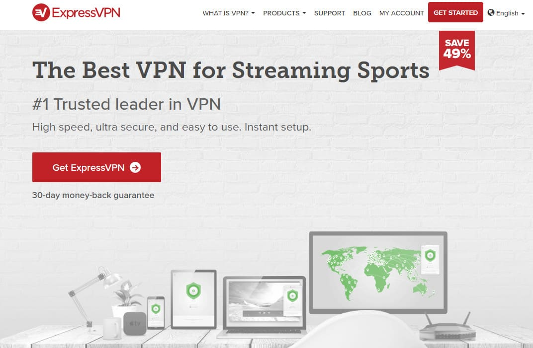 ExpressVPN best for streaming sports