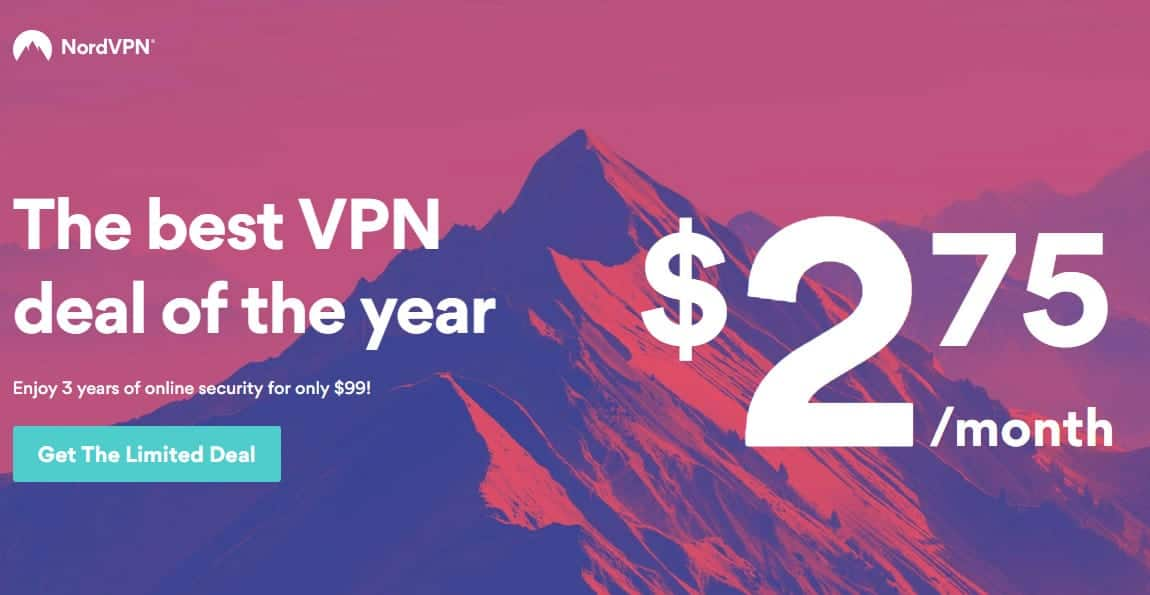 NordVPN 3 year deal