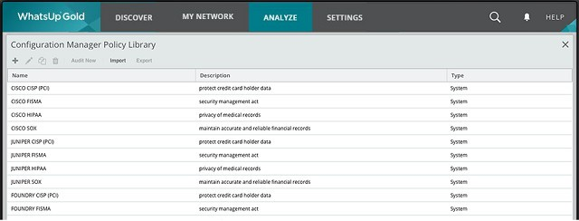 WhatsUp Gold Network Configuration Manager