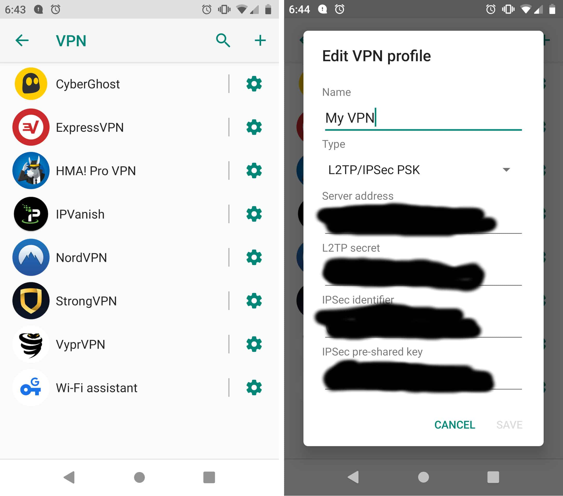 how to set up vpn android