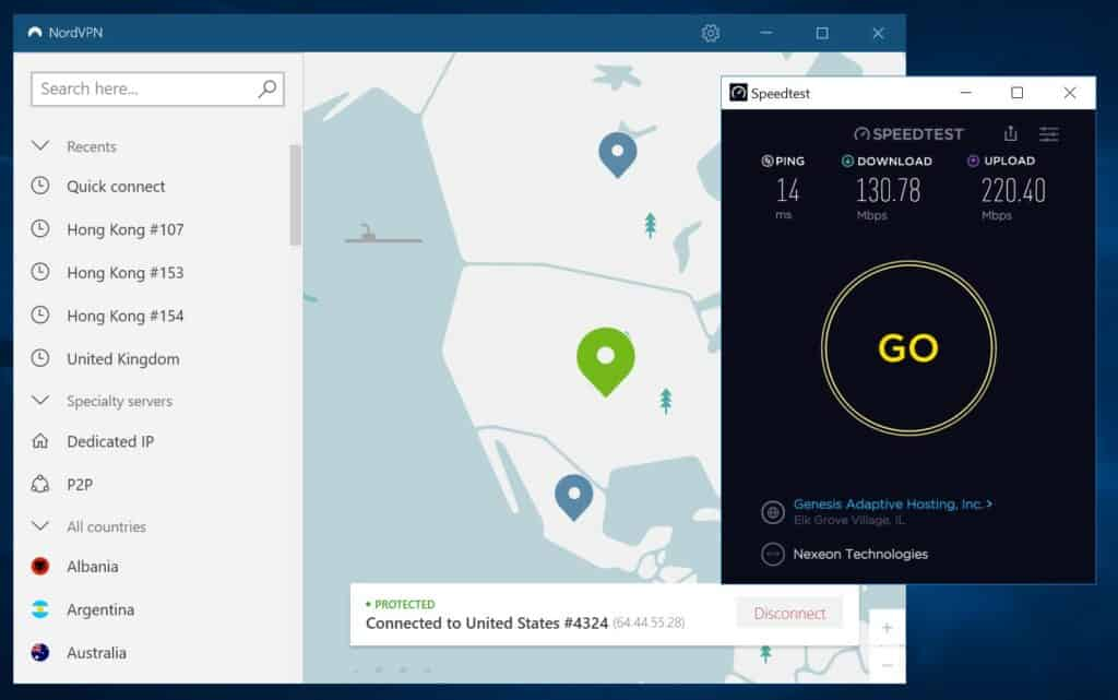 nordvpn speed test 2020