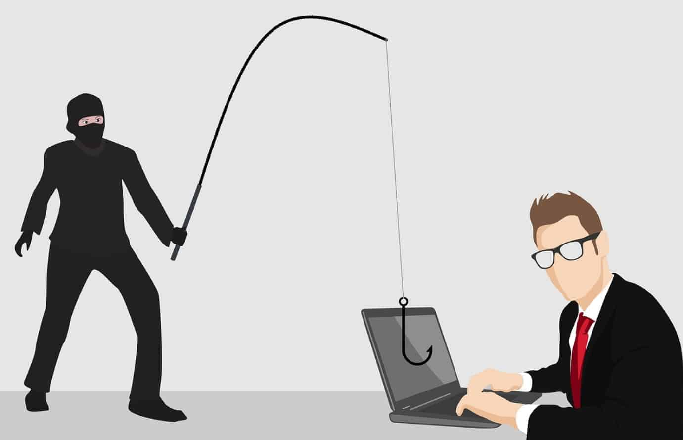 What does phishing mean in computer terms