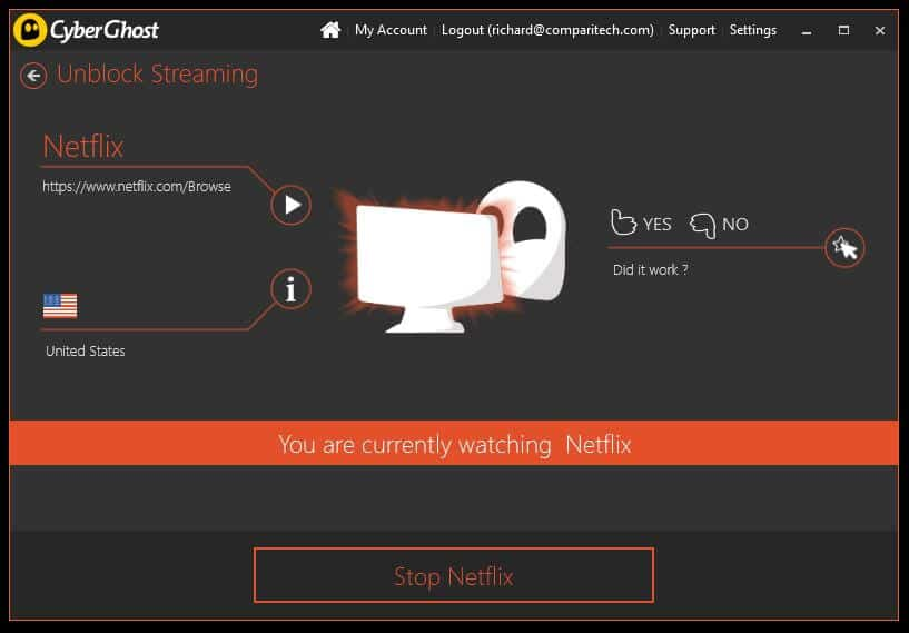 Does CyberGhost work with Netflix? We put it to the test