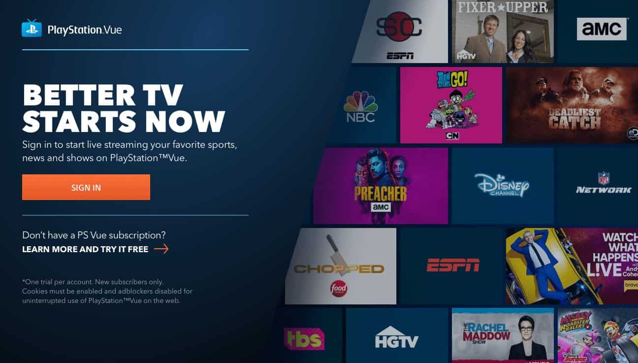 Best VPN for PlayStation Vue