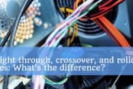 The difference between straight through, crossover, and rollover cables