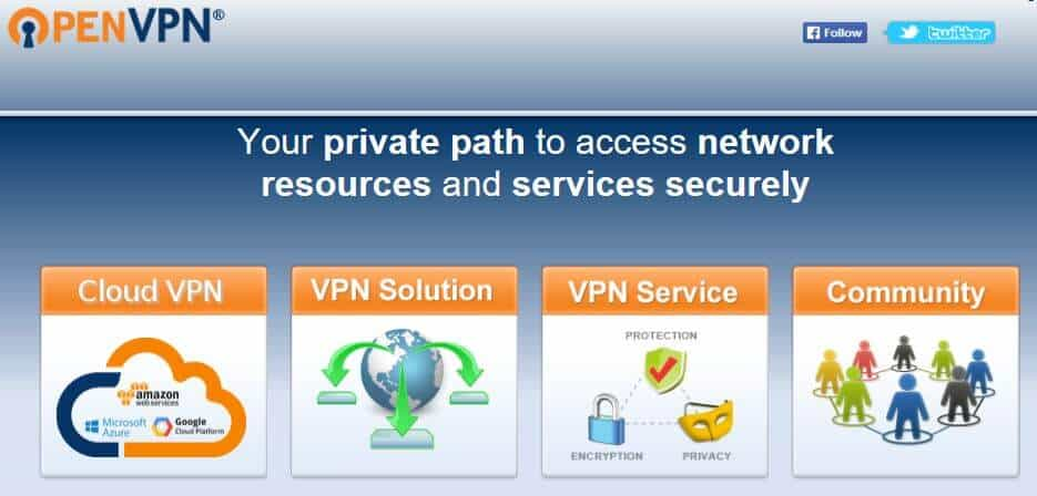 The OpenVPN homepage.