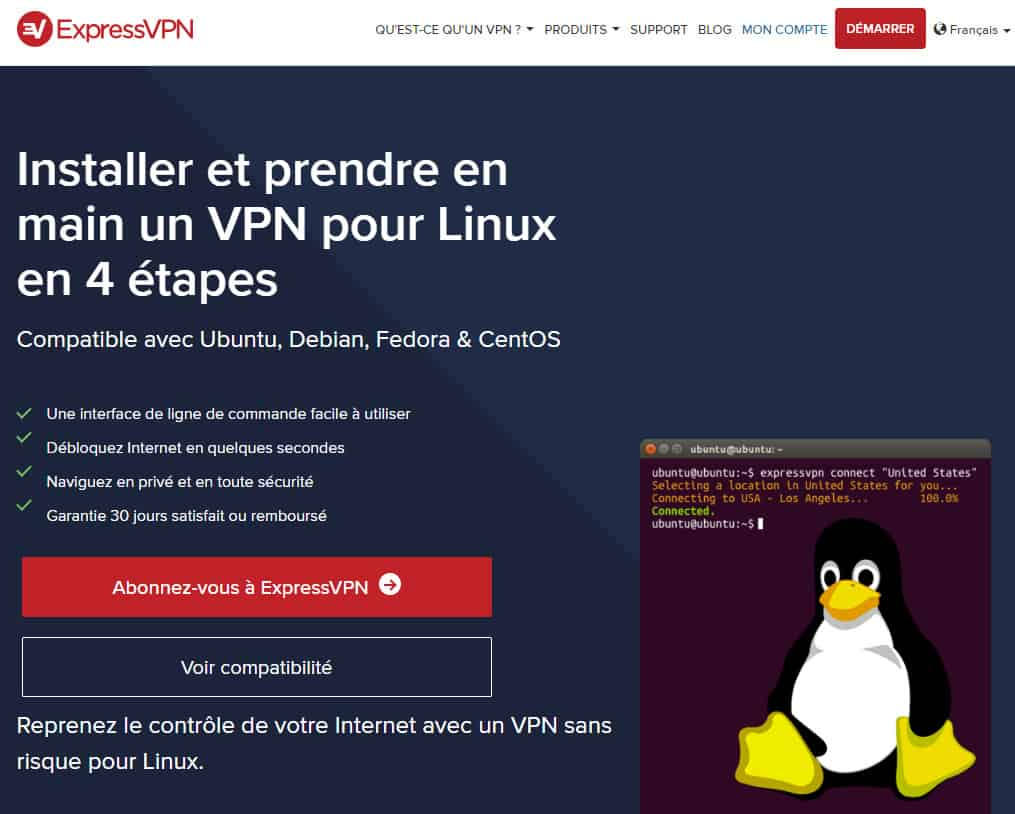 ExpressVPN Linux French