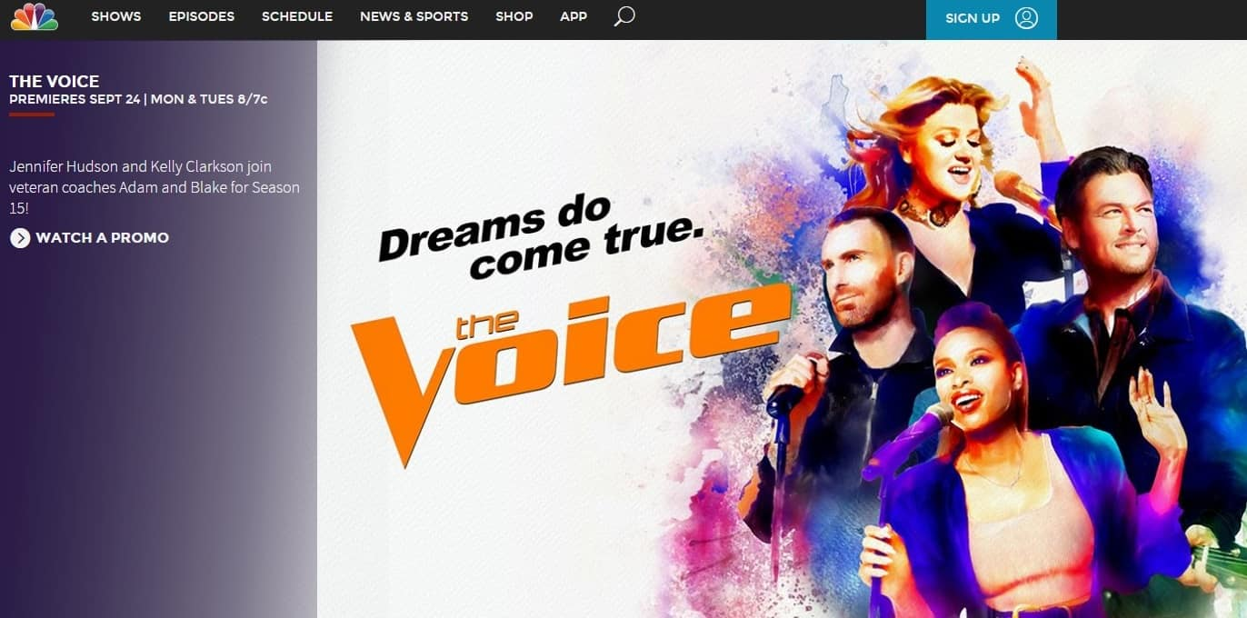 How to watch the voice live from abroad