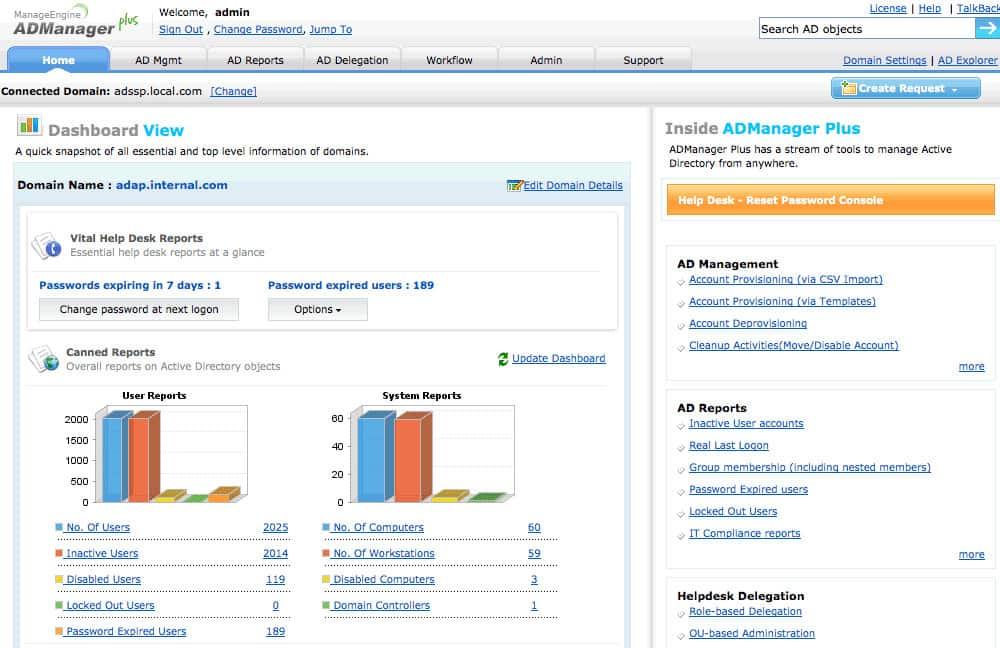 ADManager Plus AD Tool