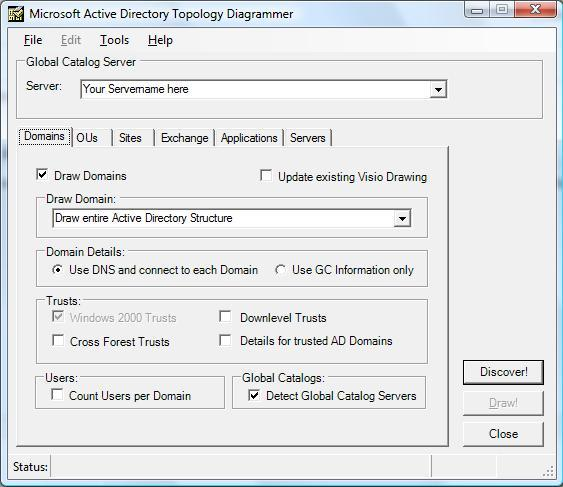 Microsoft Active Directory Topology Mapper