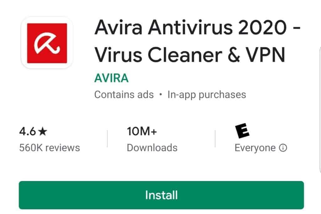 avira antiviryus android