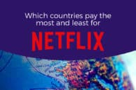 Which countries pay the most and least for Netflix?