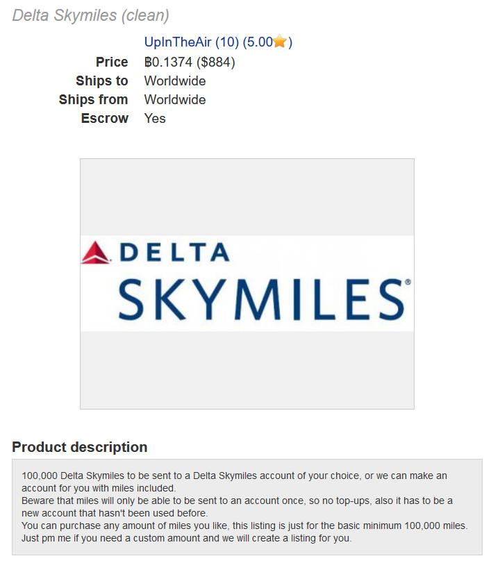 delta skymiles darknet dream market