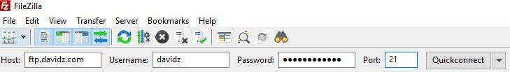 FileZilla Add FTP
