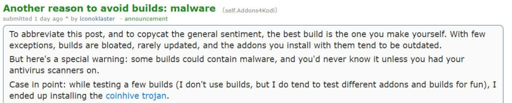 Reddit Kodi builds