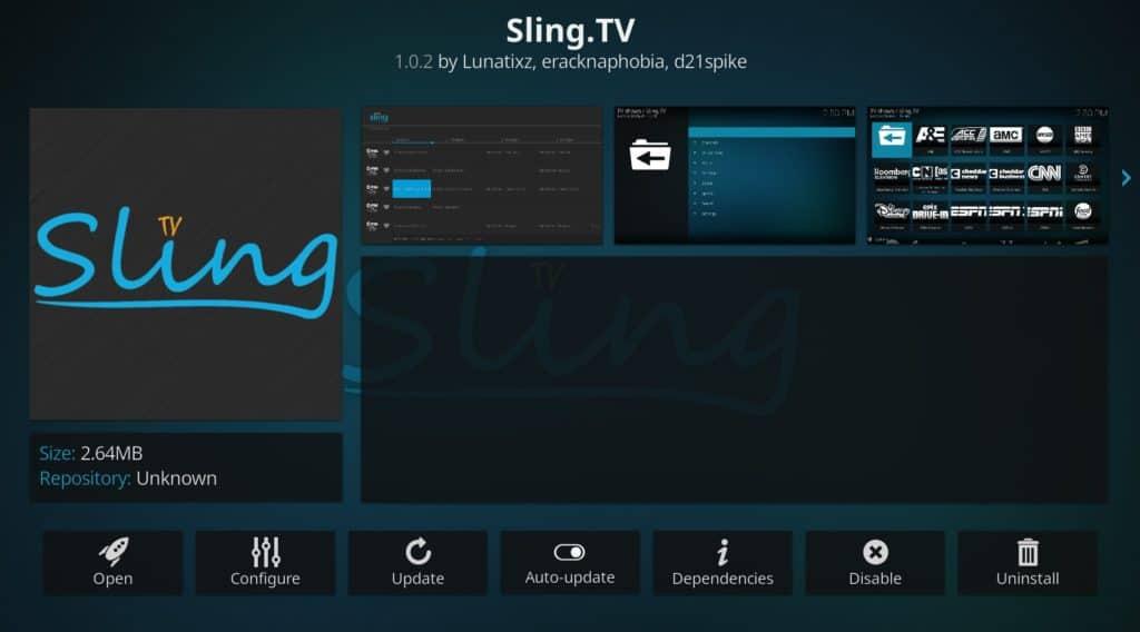 SlingTV Kodi Addon ufc 259