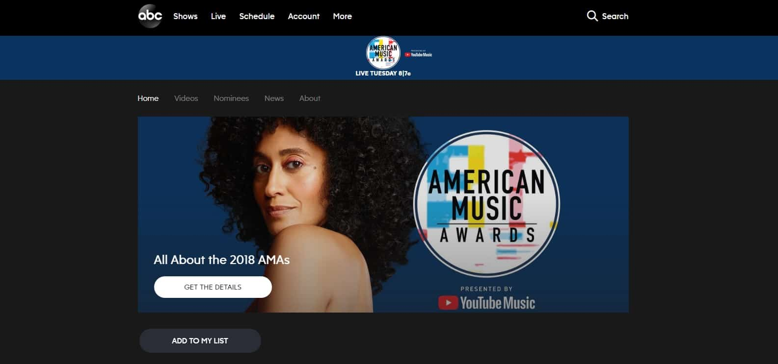 How to watch American Music Awards 2018 online
