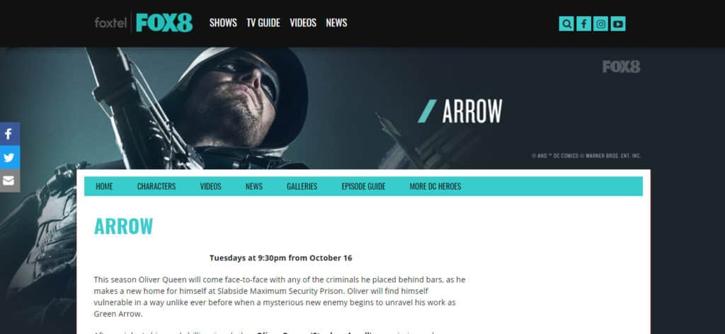 Arrow Season 7 Foxtel 8