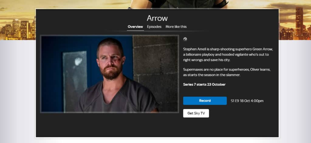 Arrow Season 7 SkyOne