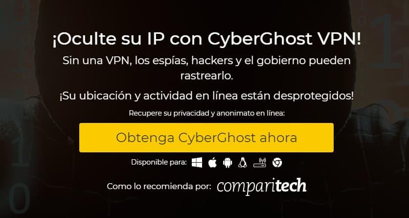 Cyberghost hideIP es
