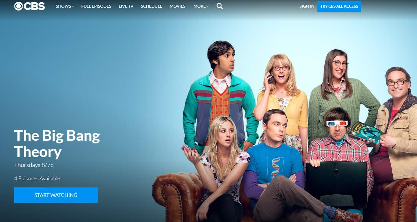 How to watch the big bang theory live online