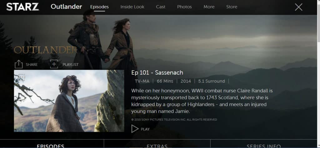 Outlander in the US