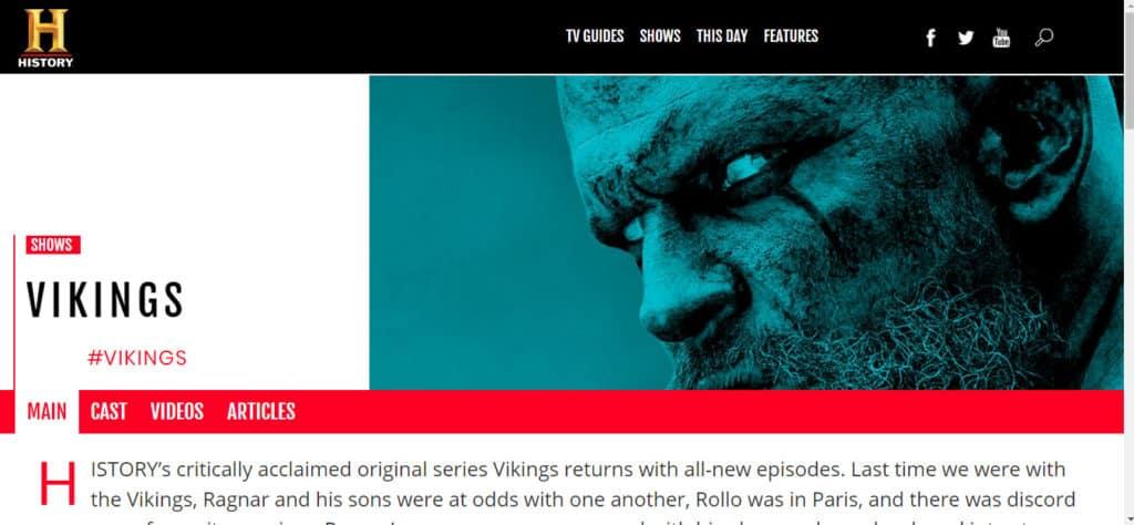 Vikings on History in the UK