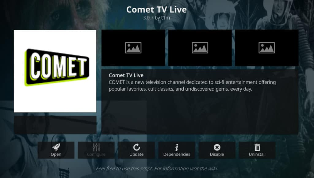 comet tv best Kodi addons