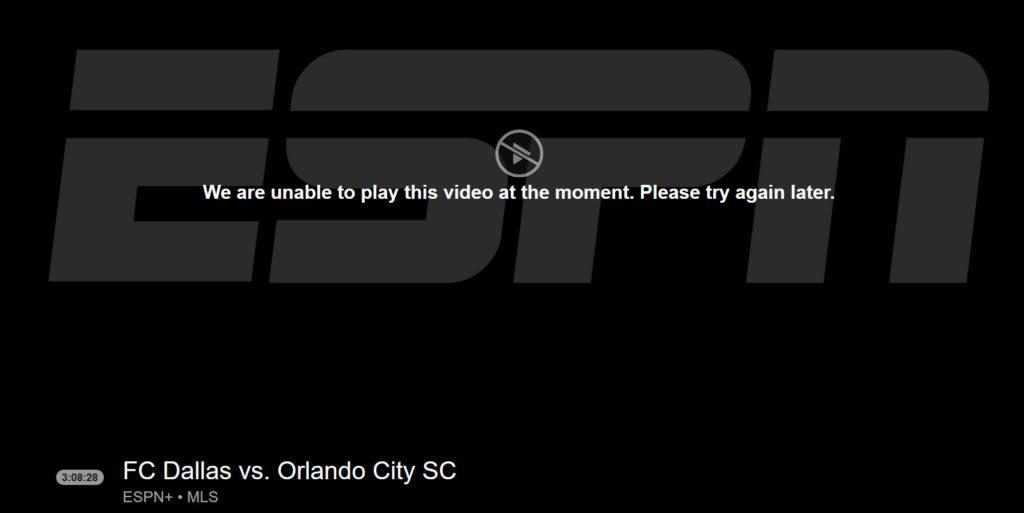 ESPN live blackout