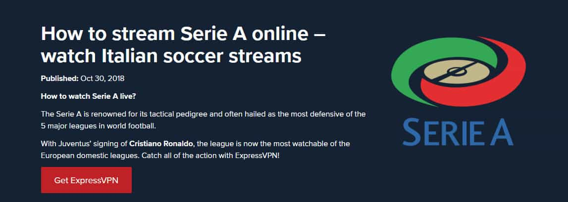How to watch the Italian Serie A Online: Live Stream from