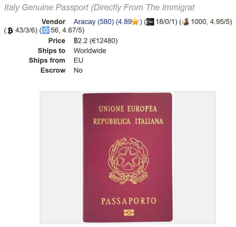 italy passport genuine